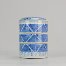 Antique 18/19C Food Container Japanese Porcelain Stacking Box Japan