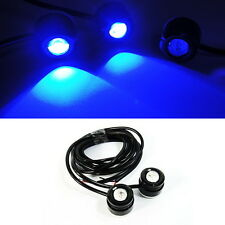 2x BLUE Eagle Eye LED Fog DRL Daytime Running Light Car Motorcycle Universal Fit