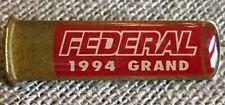 Vintage 1994 Federal Grand Shotgun Shell Shooting Gun Enamel Lapel Pin