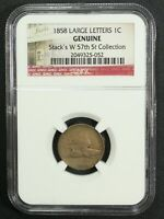1858 LL Flying Eagle Cent Stack's W 57th St Collection NGC Genuine - Cleaned