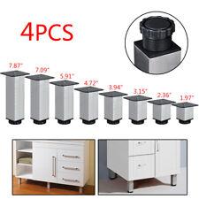 "4pcs 2""-7.9"" Adjustable Metal Furniture Cabinet Sofa Table Leg Feet Replacement"