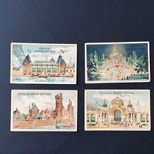 4 Chromos GUERIN BOUTRON Exposition Universelle 1900 Paris