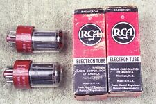 2, NEW, RCA 5692, matching pair, red base, hi reliability, 6SN7GT, 5692