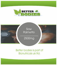 Saw Palmetto 2500mg High Strength 100 Capsules Better Bodies Veg Friendly