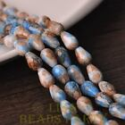 New 15pcs 12X8mm Teardrop Faceted Glass Loose Spacer Colorful Beads Deep Blue
