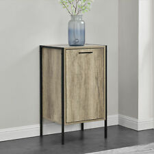 [en.casa]® Armario - Cómoda - Apariencia de madera / Negro - 78 x 42,5 x 39cm