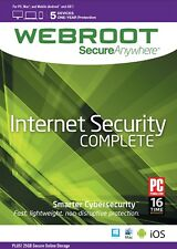 Webroot secureanywhere Internet Security completo, i dispositivi 5 ANNO 1-download