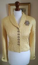 Authentic christian dior Vintage Veste Jaune FR34 UK6 Fabulous!