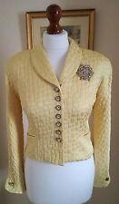 Authentic Christian Dior Vintage Yellow Jacket FR34 UK6 Fabulous!