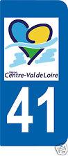 1 Sticker plaque AUTO adhésif département 41