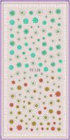 Nail Art Water Decals Stickers Transfers Easter Spring Daisies Flowers (YE175)