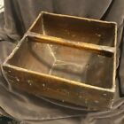 Antique Chinese Rich Wood Rice Grain Measure Harvest Carry Bucket Iron Details