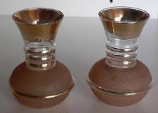lot de 2 vases des années 50 en verre