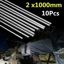 10x 2mm 100cm Metal Aluminum Magnesium Silver Welding Brazing Rod Wire Electrode