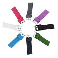 Hot 22mm Sport Silicone Strap Wrist Watch Band For Pebble Time Steel Smartwatch