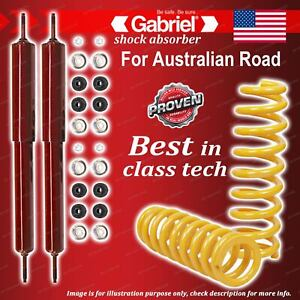 Rear Gabriel Guardian Shocks + STD King Coil Springs for Ford Cortina TE TF 6CYL