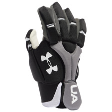 Under Armour Strategy Youth Lacrosse Gloves, Black, All Sizes
