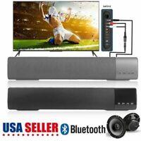 TV Sound Bar Home Theater Subwoofer Soundbar with Bluetooth Wireless 3-Color BT