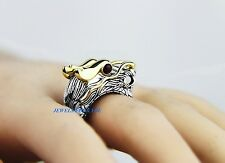 JOHN HARDY NAGA DRAGON STERLING SILVER 18K GOLD RUBY LARGE RING SZ 7 NEW 16R BOX