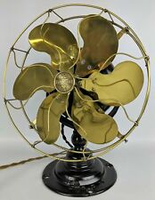 ULTRA RARE 1911 EMERSON 14666 6-Blade Pancake Desk Fan w/ Parker Brass Blades