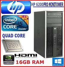 HP 6200 MT QUAD CORE  i5 3.1GHz SSD+SATA 16GB RAM WIFI WINDOWS 10 NVIDIA HDMI #2