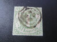 "GERMANY STAMPS USED  1866 ""GERMANY STATES"" 1 KREUZER"