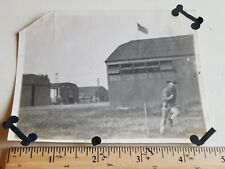 Graflex Camera Photo - Annotated on back - Stop Action Military Pre-WW2 WWII