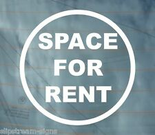 SPACE FOR RENT FUNNY VINYL STICKER TAX DISC DECAL VAN CAR GRAPHICS JDM STICKERS