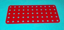 meccano plaque rectangulaire No70, rouge