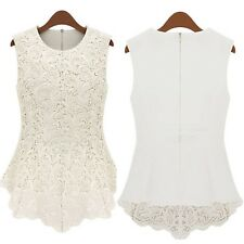 Casual Shirt Ladies Blouse Celebrity Vest Boho Fashion Top UK Sz 6-18 White 12