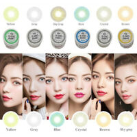 1 Pair Big Eyes Natural Comfort Men Women Circle Coloured Contact Lenses Gracio