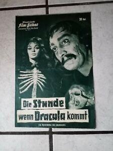 Die Stunde wenn Dracula kommt  -FilmProgramm - 60 er Jahre- ca. 4 Seiten,org.