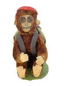 1930s Schuco Yes/No Mohair Jointed Monkey