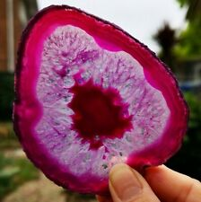 STUNNING LARGE DYED AGATE SLICE. HEALING CRYSTAL.