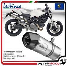 Leovince LV One 2 homologated steel exhausts for Ducati Monster 1100 2009>2010