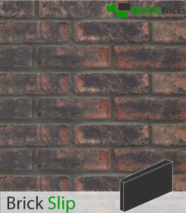 Handmade Brick Slip Tiles Decoration Wall Natural Bricks - Antique Cottage Black