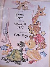 Birth Sampler Columbia-Minerva Cross Stitch Embroidery Kit Vtg 1973