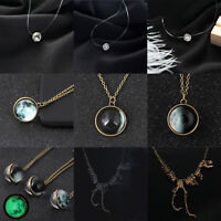 Women Crystal Snowflake Elephant Necklace Chain Jewelry Pendant Choker Sweater
