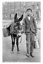 pt4600 - Whitby , Milk Seller with Donkey , Yorkshire - photo 6x4