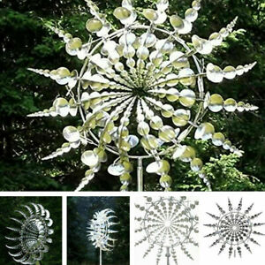 Unique and Magical Metal Windmill - Lawn Sculptures Move The Wind Spinners