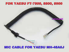 2 X Mic Cable For Yaesu Microphone MH-42B6J mic cord FT-1802 FT-1807 FT-8900R