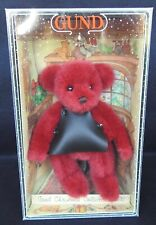 GUND 1992 Christmas Collection Bear - Red w/ Apron-  New in Original Box