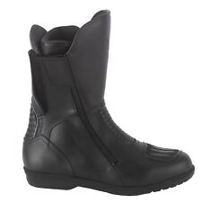 Diora Strada Waterproof Leather Motorcycle Motorbike Touring BOOTS Black UK 10