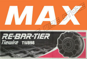 TW898 Max Rebar Tie Wire 50 Roll RB217, RB218, RB397, RB398, RB517, RB518 CASE