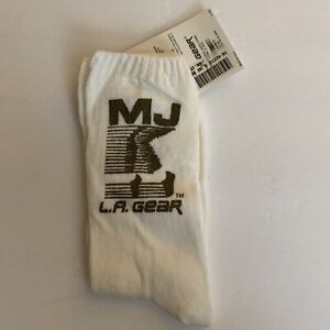 Michael Jackson Official 1990 L.A. Gear New Socks (White/Gold) NWT