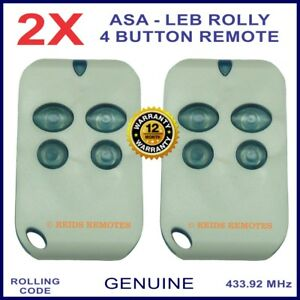 Automatic Solutions Australia Leb Rolly gate remote control -4 blue buttons X 2