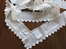 VINTAGE HAND CROCHET TABLECLOTH TRIM Ship Welcome Home - For Re Use