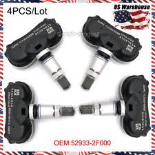 Set of (4) TPMS Tire Pressure Monitor Sensor for Hyundai Kia NEW 52933-2F000