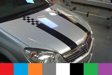 Racing Style Dual Rally Hood Stripe Car VINYL STICKERS JDM DECALS Graphics
