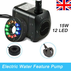 Electric Water Feature Pump Small Fountain For Outdoor Garden Fish Pond 800L/H
